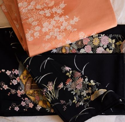 京刺繍が施された生地:刺繍の旗は社旗に最適 オリジナルもオーダーできる京刺繍の主な技法とは?:平岡旗製造株式会社(京都、手刺繍の老舗旗屋)